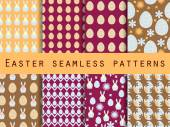 Fényképek Easter. Set of seamless patterns. Easter Bunny and Easter egg. Template for wallpaper, tile, tissues and structures.