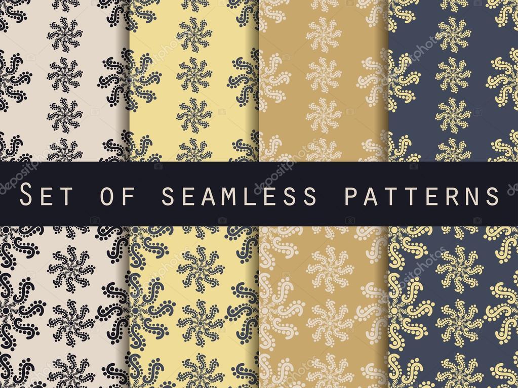 Set Nahtlose Muster Goldfarben Das Muster Fur Tapeten Bettwasche
