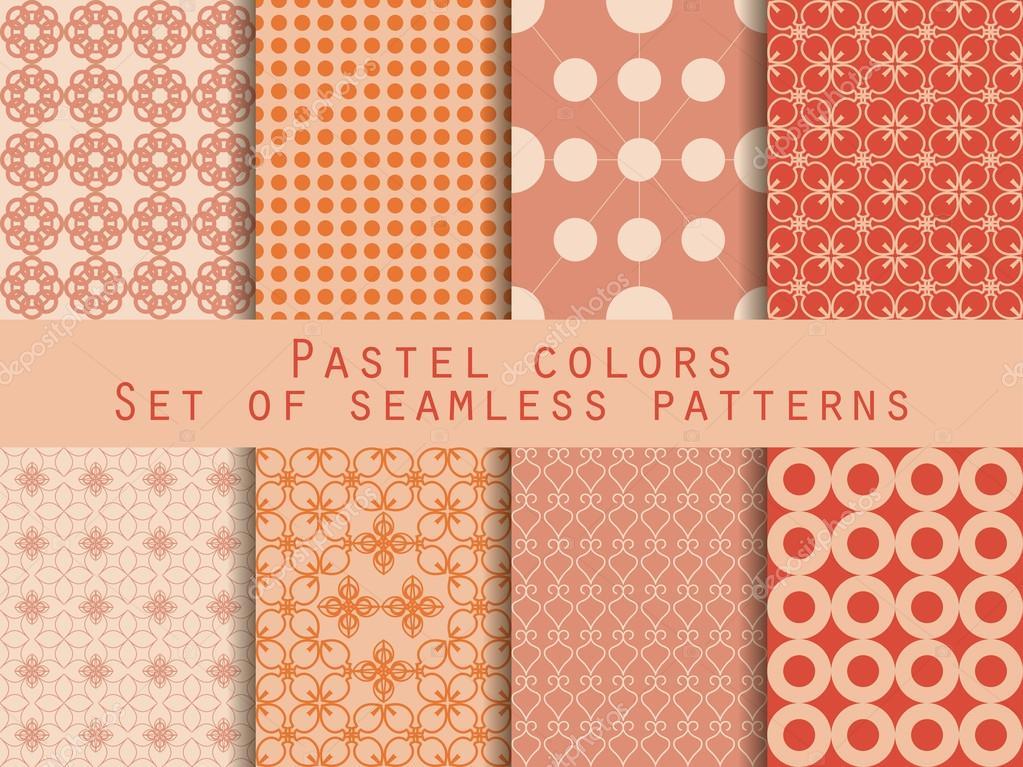 Modele Sans Couture Geometrique Tons Pastel Pour Le Papier Peint