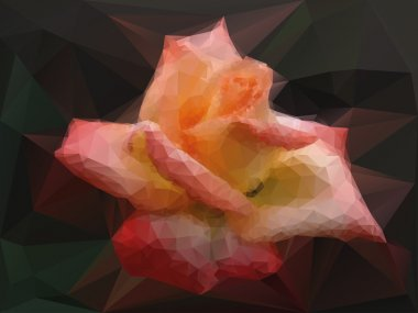 Rose background with triangles