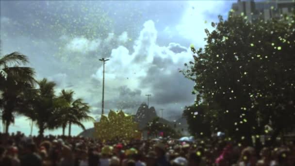 Brazil karnevál utcabál a lassú mozgás