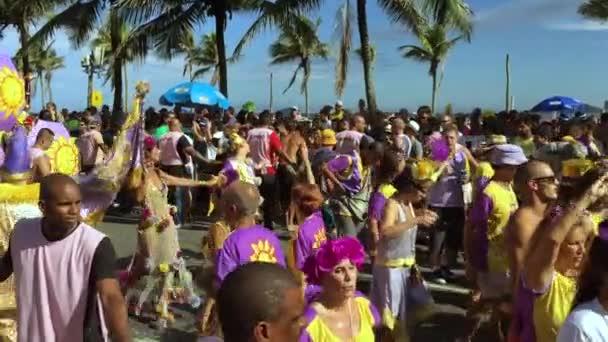 Tanečníci a diváci Karneval Street Party Rio de Janeiro