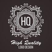 Fotografie Monogram design elements, graceful template. Calligraphic elegant line art logo design. Business sign for Royalty, Boutique, Cafe, Hotel, Heraldic, Jewelry, Wine. Vector illustration