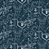 Tetoválás varrat nélküli mintát különböző kézzel rajzolt elemek