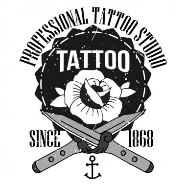 Homemade tattoo t-shirt design. Old school style stock vector