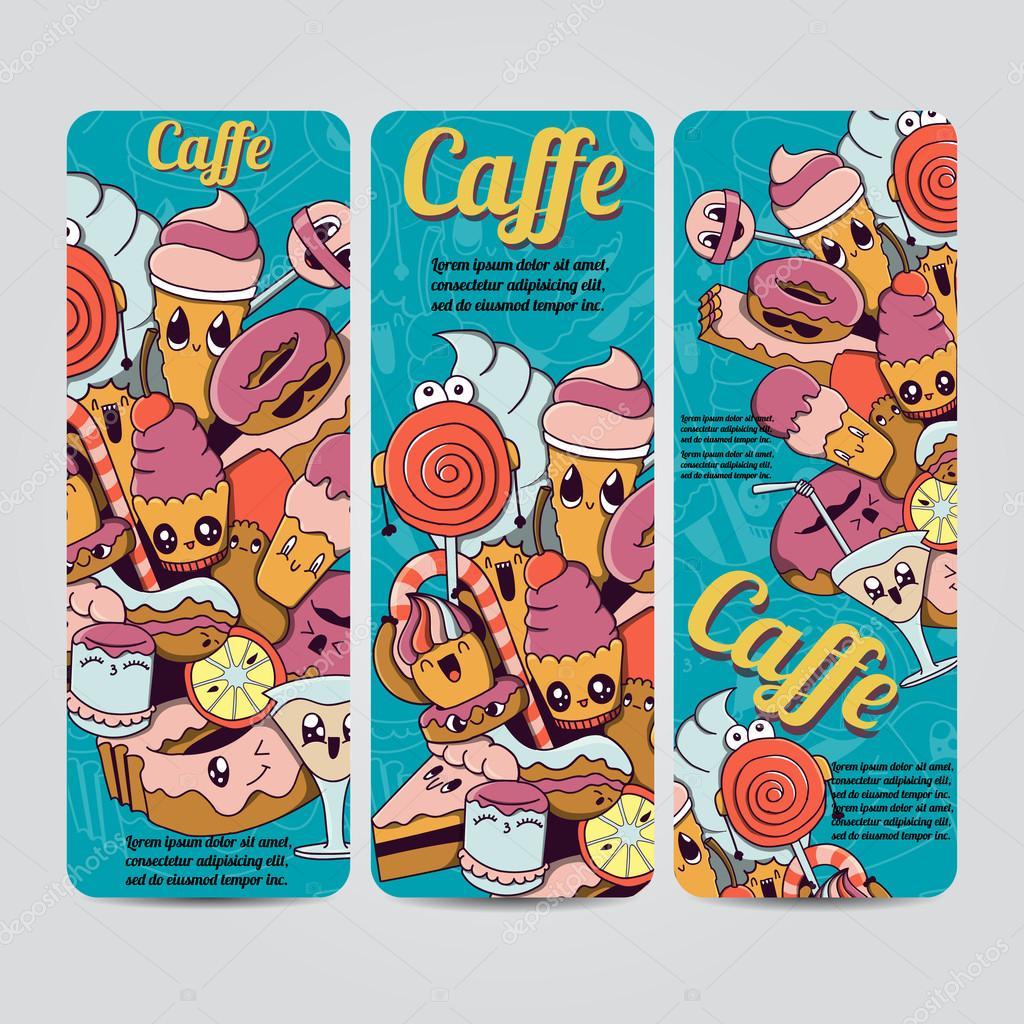 Imágenes Invitaciones A Tomar Cafe Dibujado A Mano Vector