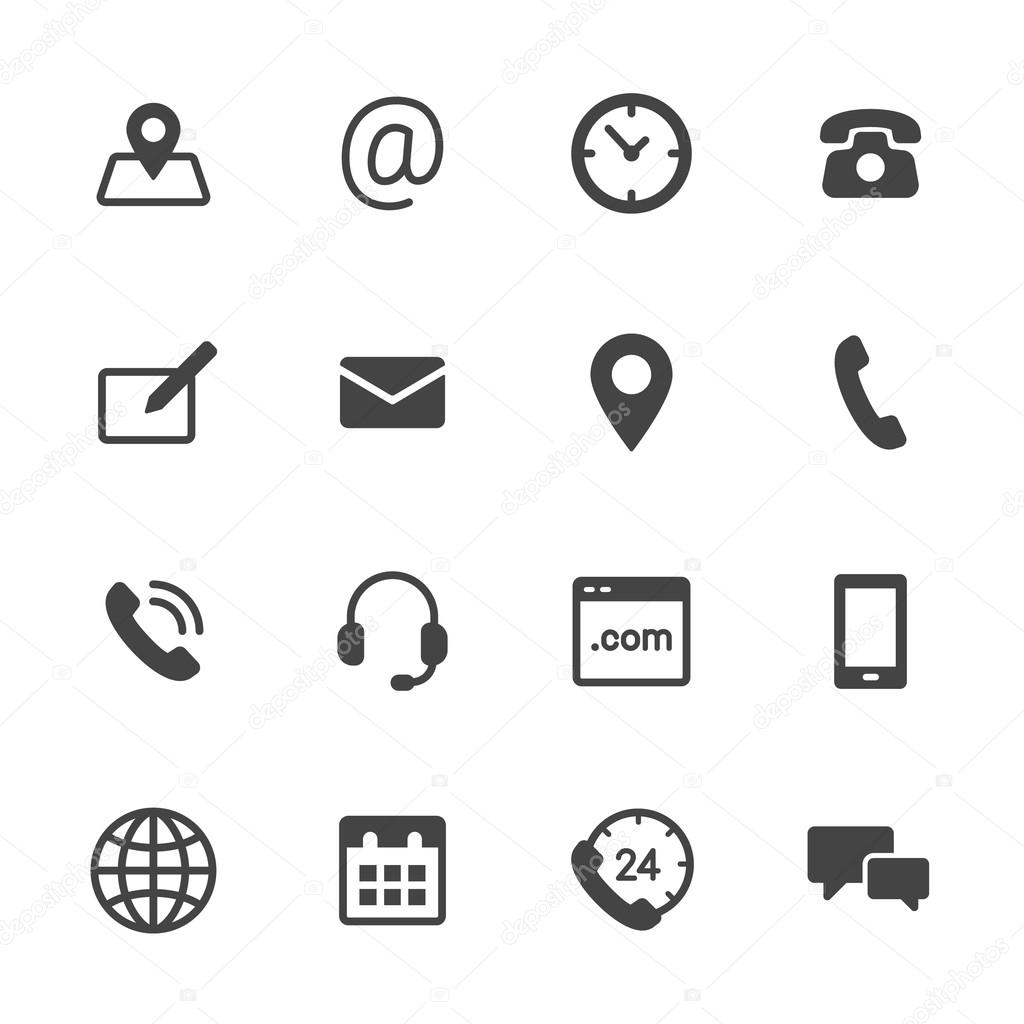 contact icons  u2014 stock vector  u00a9 filborg  80295600