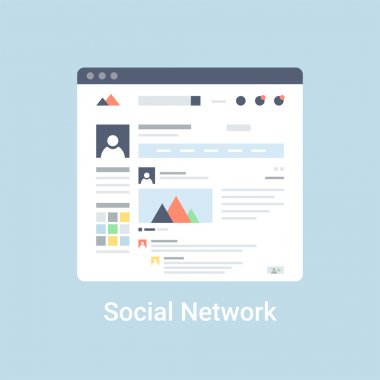 Social Network Wireframe