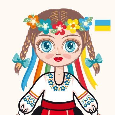 The girl in Ukrainian dress. Historical clothes. Ukraine. Portrait. Avatar.