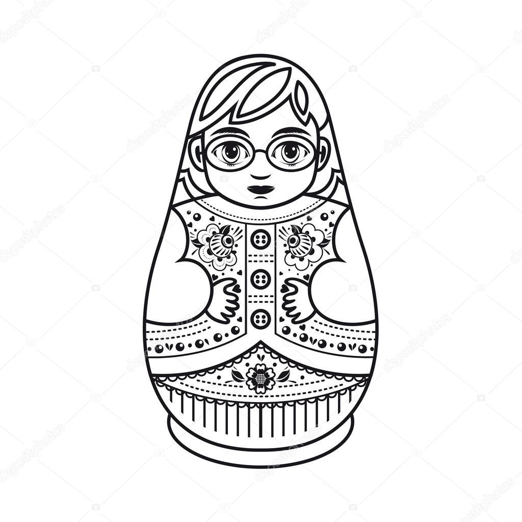 stock illustration matryoshka russian folk nesting doll