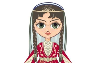 Portrait of the Chechen girl. Avatar.