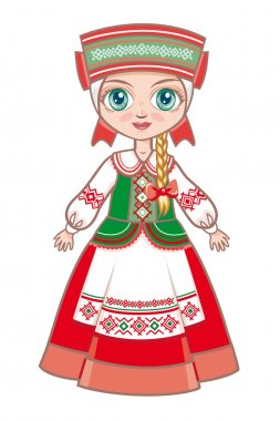 doll in the Belarusian suit. Historical clothes