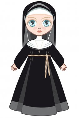 Doll in a monastic dress stock vector