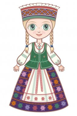 The girl in the Lithuanian suit. Historical clothes