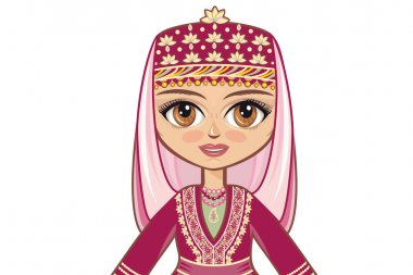 Portrait, avatar. The girl in the Azerbaijanian suit. Historical clothes
