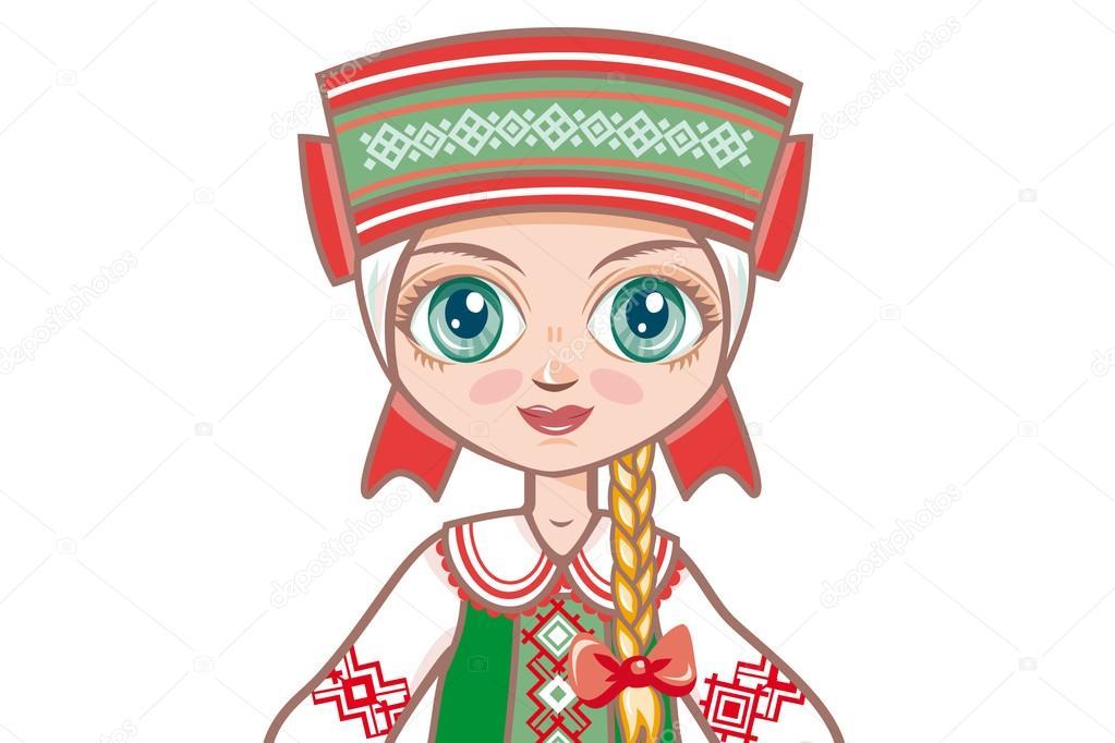 Картинка мальчика и девочки в белорусском костюме