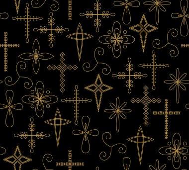 christian crosses seamless pattern