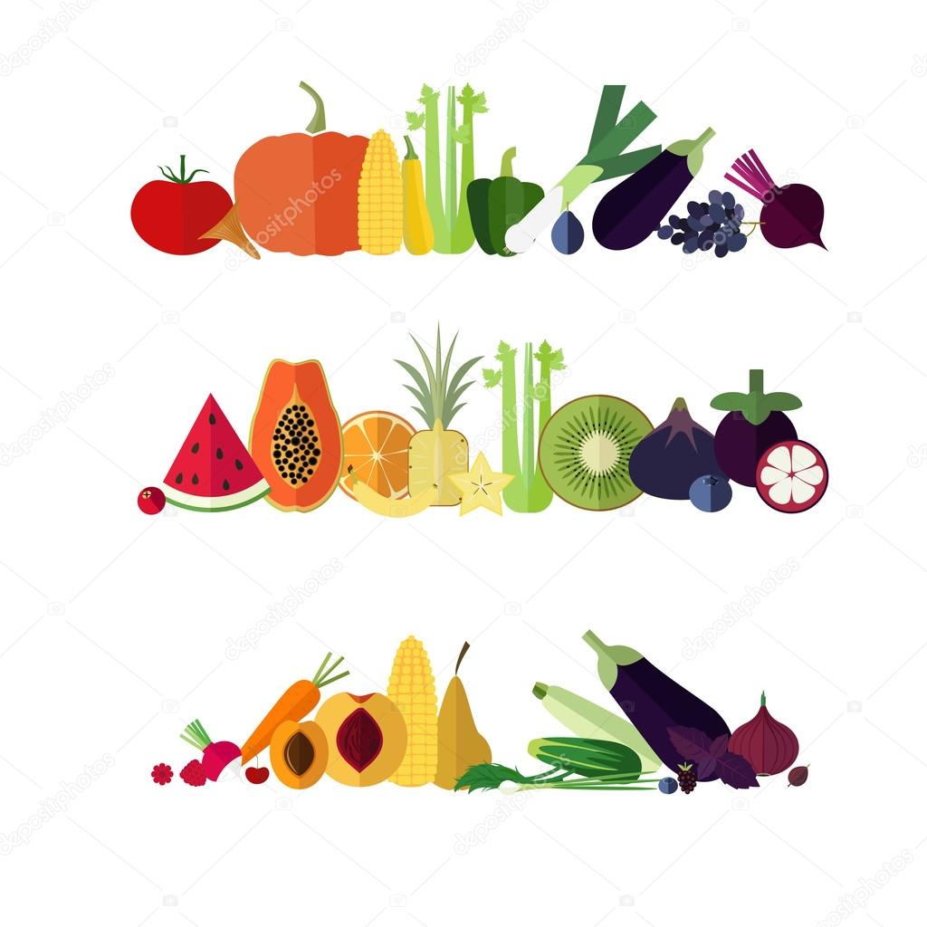 vegetable rainbow banners