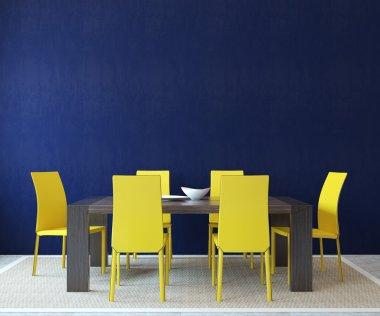 Modern dining-room interior.