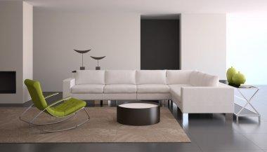 living-room in modern house