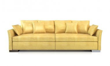 Modern couch isolated on white background. 3d render. stock vector