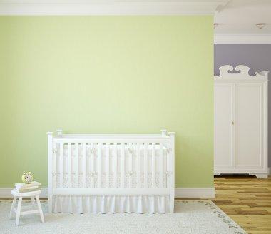 Cozy interior of nursery