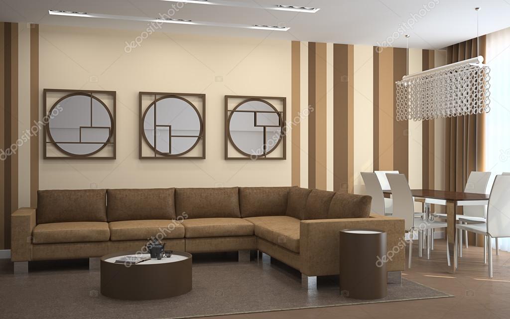 Arredamento soggiorno moderno. — Foto Stock © poligonchik #76744181