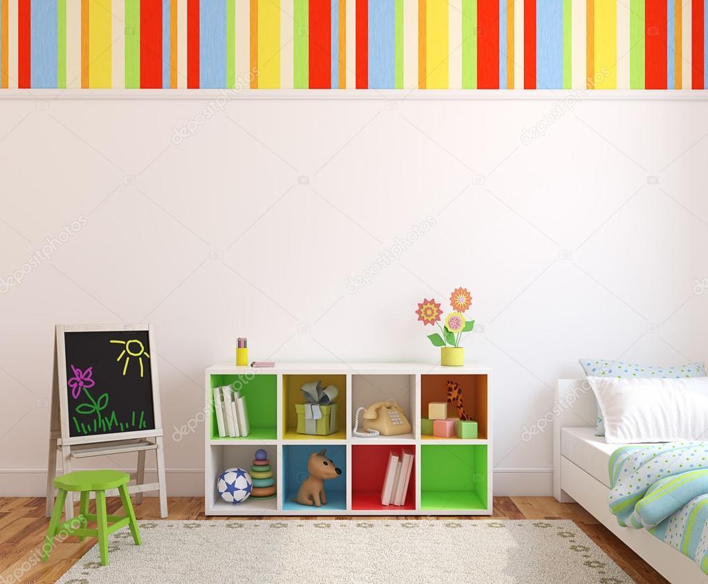 Bunte Kinderzimmer-Interieur — Stockfoto © poligonchik #76744187