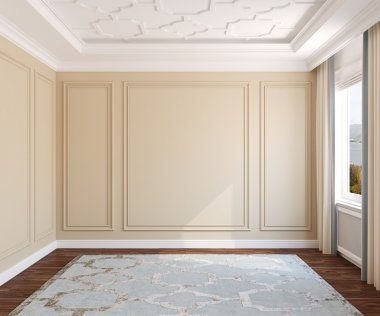 Interior of empty room.