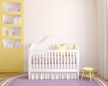 Colorful interior of nursery.