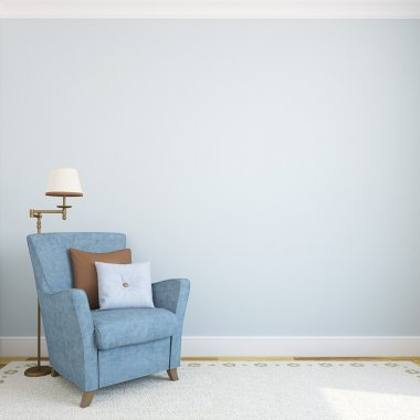 Modern interior with armchair