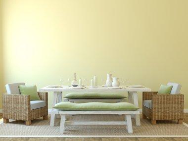 Modern dining-room interior