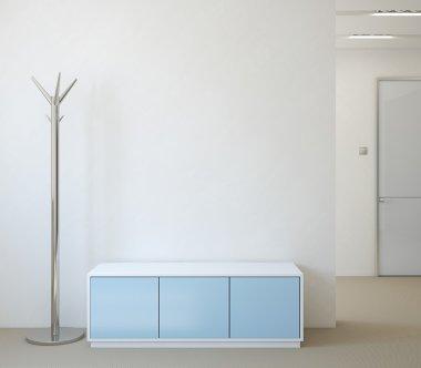 Blue Modern hallway