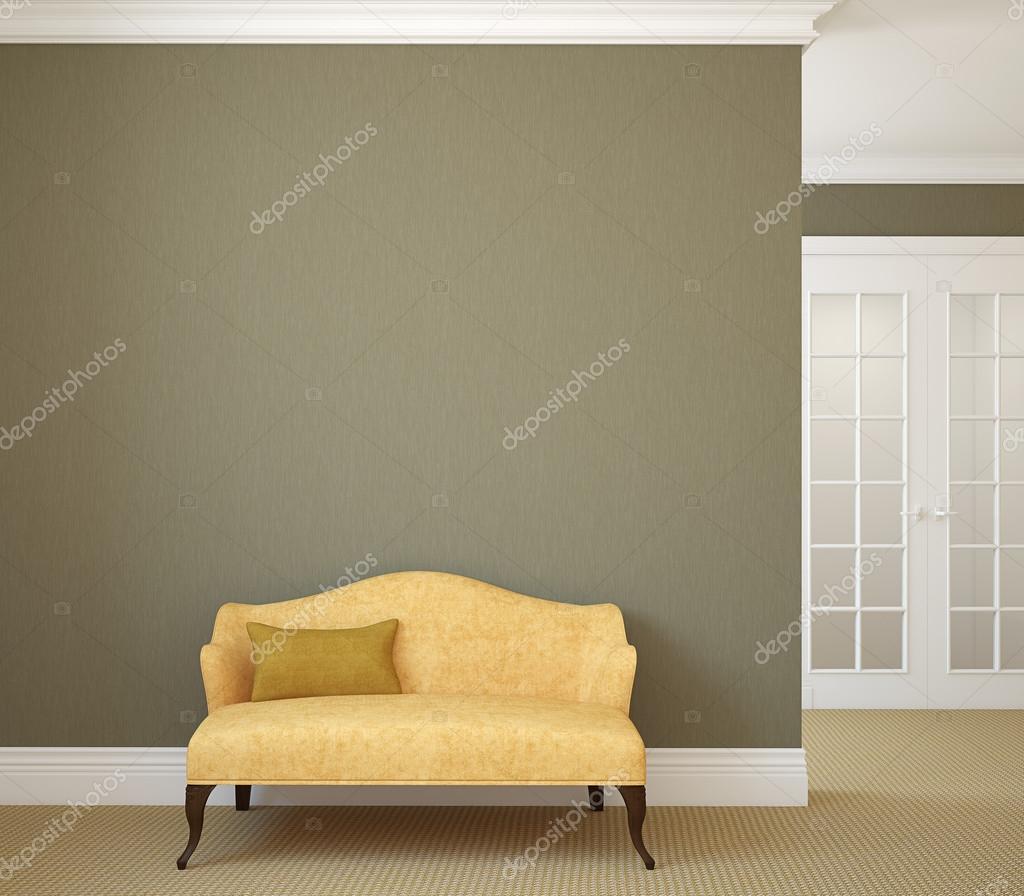 hallway with yellow couch stock photo poligonchik 77862786