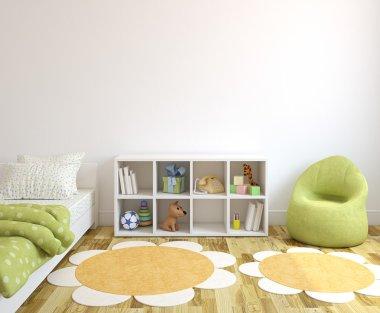 Colorful playroom interior