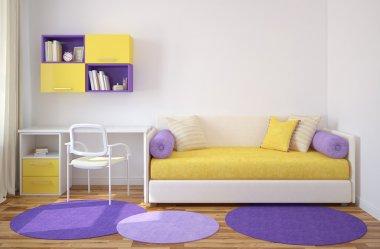 Colorful interior of playroom.
