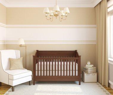 Interior of nursery. Frontal view