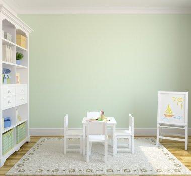 Colorful playroom interior.