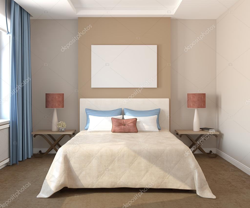 Stanze Da Letto Bellissime : Interni di belle camere da letto u foto stock poligonchik