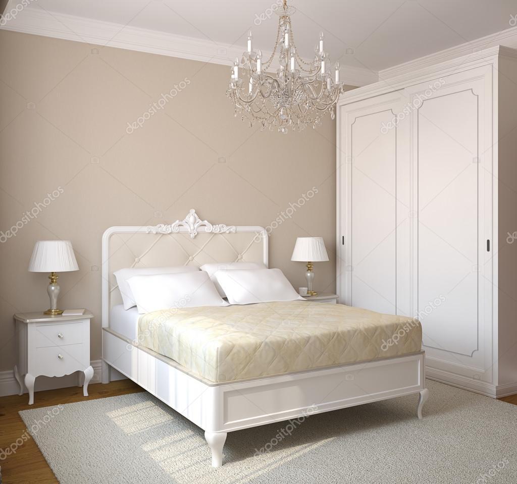 klassieke slaapkamer interieur — Stockfoto © poligonchik #83971276