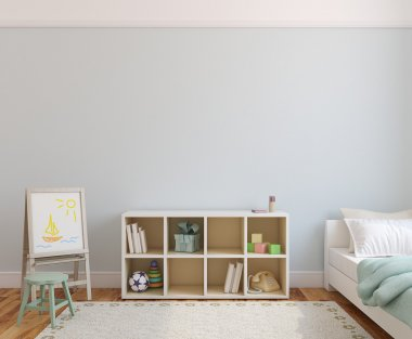 Playroom interior fir kid.