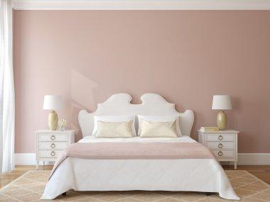 Bedroom interior. Provence.