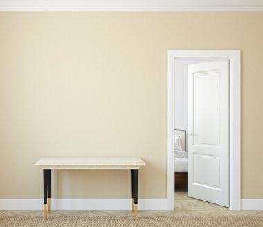 Modern hallway interior