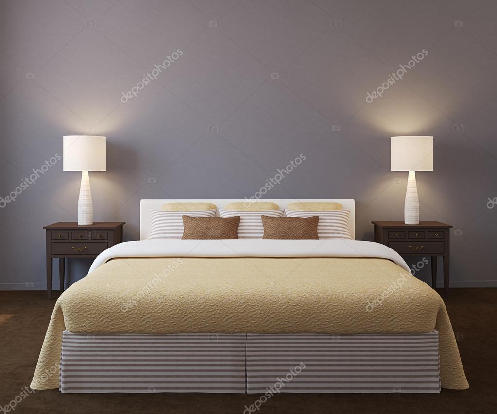 현대 침실 인테리어 — 스톡 사진 © poligonchik #85481412