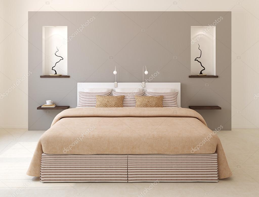 현대 침실 인테리어 — 스톡 사진 © poligonchik #85481960