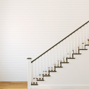 White classic stairway.