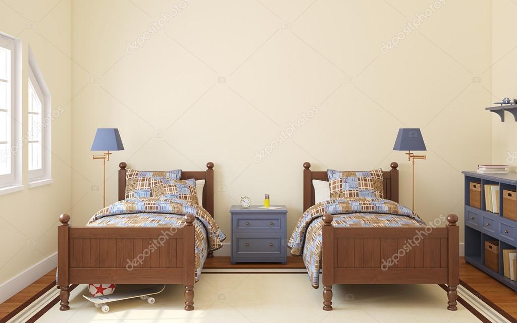 Slaapkamer voor twee kinderen — Stockfoto © poligonchik #92319428