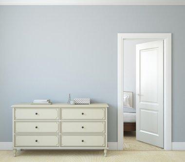 Hallway.3d rendering.