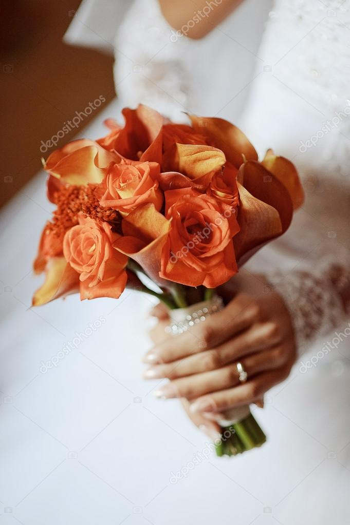 beautiful wedding bouquet Bride