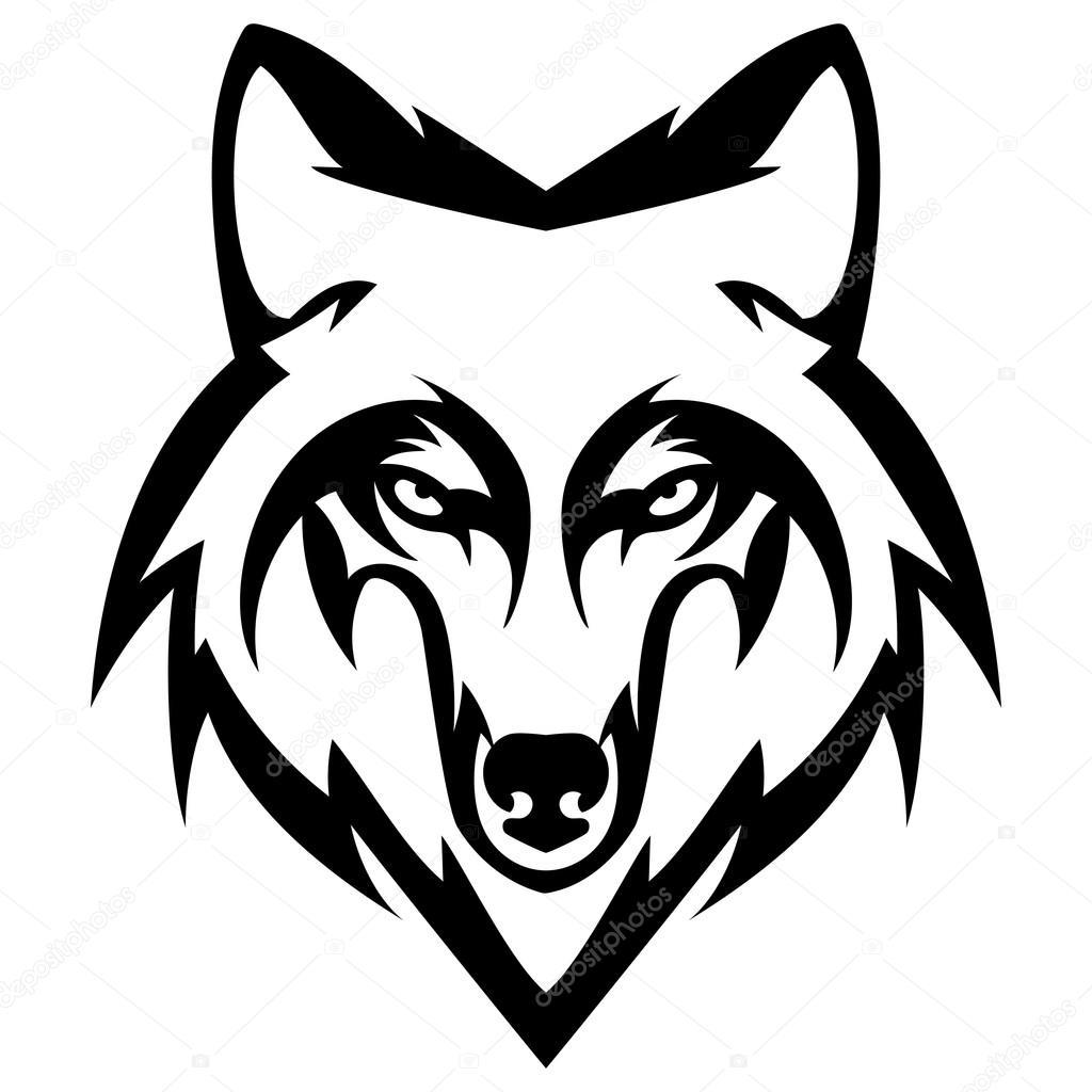 wolf head logo mascot emblem stock vector shesaysboo 101368278 rh depositphotos com howling wolf head clipart wolf head clip art free